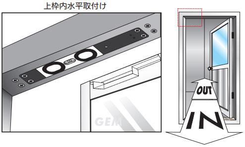 GS705-30(上枠内水平取付け)